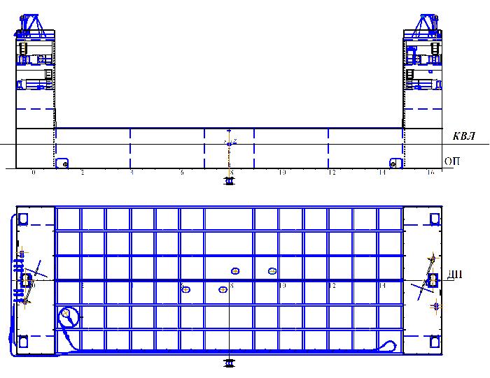 Погружная баржа пр.1370