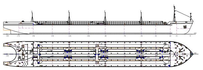 Нефтеналивная баржа грузоподъёмностью 4500 т. проекта 16806