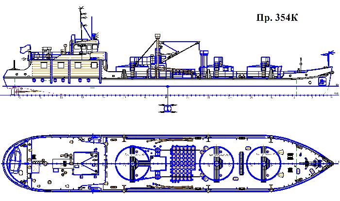 Самоходная очистная станция пр. 354К