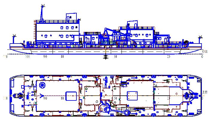 Плавучая станция для перекачки нефтепродуктов и зачистки нефтеналивных судов (пр.5411)
