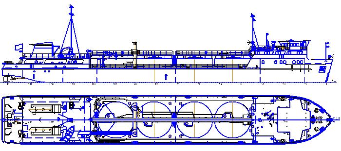 Танкер грузоподъемностью 800т. пр.81180