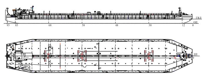 Нефтеналивная  баржа с  горизонтальными  цилиндрическими  танками (пр.82230)