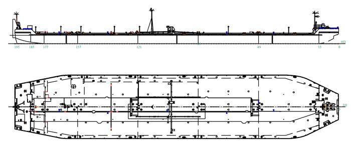 Нефтеналивная баржа с двойными бортами и утолщенным днищем (пр. 82380)