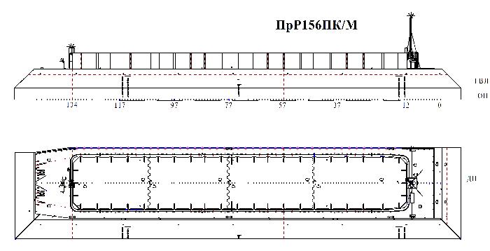 Несамоходная баржа для ледовой защиты пр. Р156ПК/М