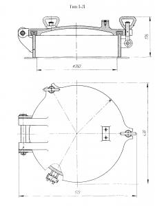 Крышка судовая Ду 350 (1-Л)