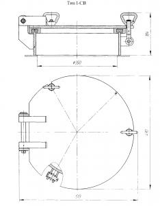 Крышка судовая Ду 350 (1-СВ)