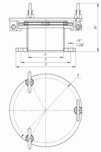 Крышка дегазационная с огнепреграждающим элементом