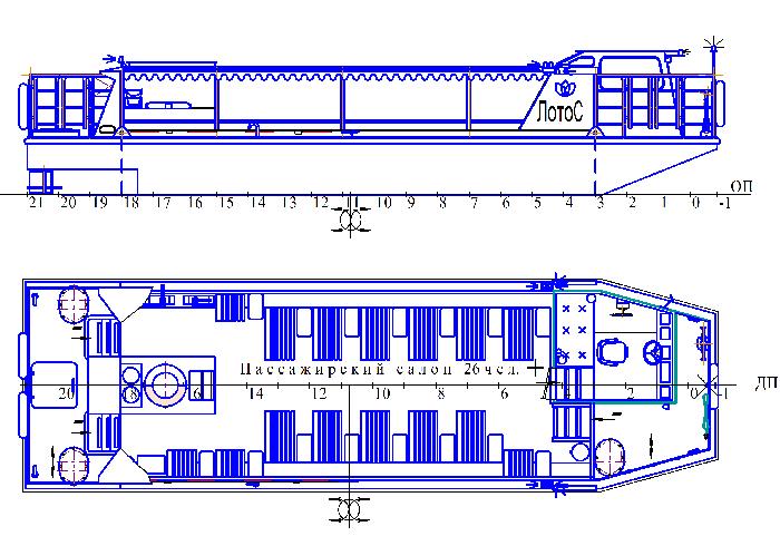 Пассажирское судно для мелководья